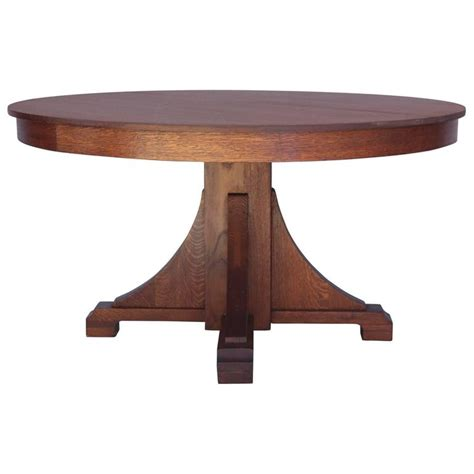 and crafts table 1910 arts and crafts oak dining table at 1stdibs
