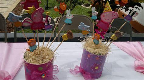 chuladas creativas centros de mesa centros de mesa peppa pig