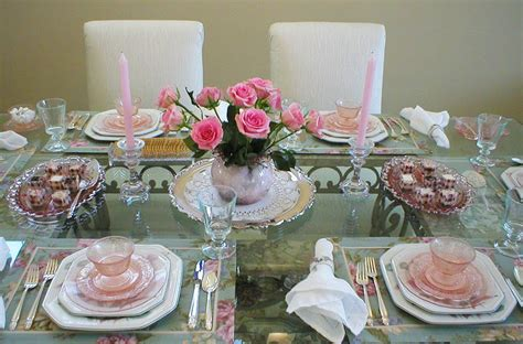 Glasses Table Setting The Gazebo House My Birthday Celebration With S Pink Depression Glass