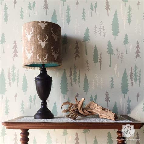 rustic tree forest designer wall stencils bonnie