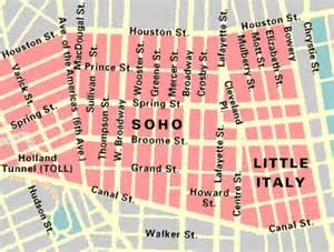 Soho New York Map by Map Of Soho Amp Tribeca
