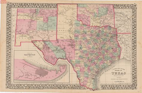 texas and new mexico map with cities map of texas new mexico and indian territory date 1877 o flickr