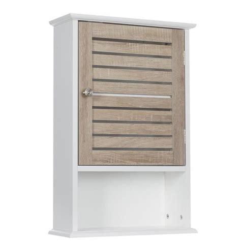 Meuble haut de salle de bain Blanc bois   Achat / Vente