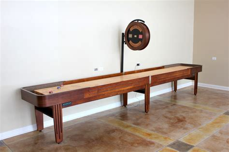 shuffleboard table dimensions official a guide to shuffleboard sizes and your homemcclure tables