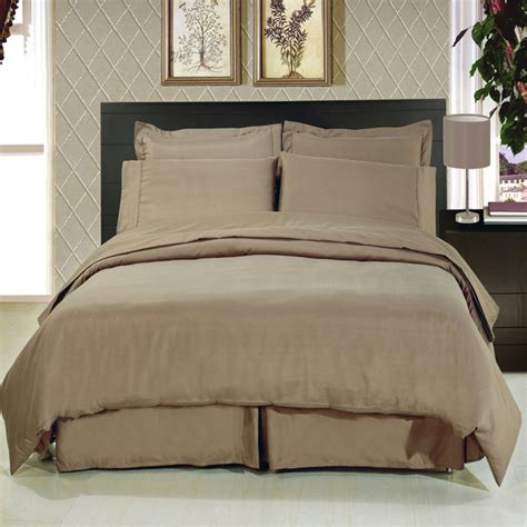Taupe Bedding Sets by Solid Taupe 8 Soft Microfiber Bedding Set