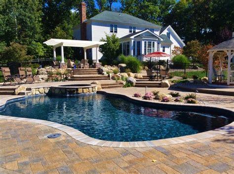 gunite and inground gunite swimming pools aqua pool patio