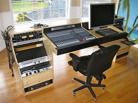 home studio mixing desk diy recording console stand search studio desk