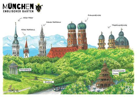 Günstig Parken München Englischer Garten by Panorama M 252 Nchen Englischer Garten Postkarte