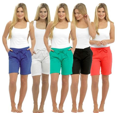 womens holidays ladies casual linen shorts summer holidays beach wear size