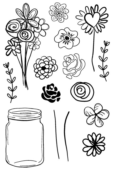 what do doodle flowers doodle flowers clear sts