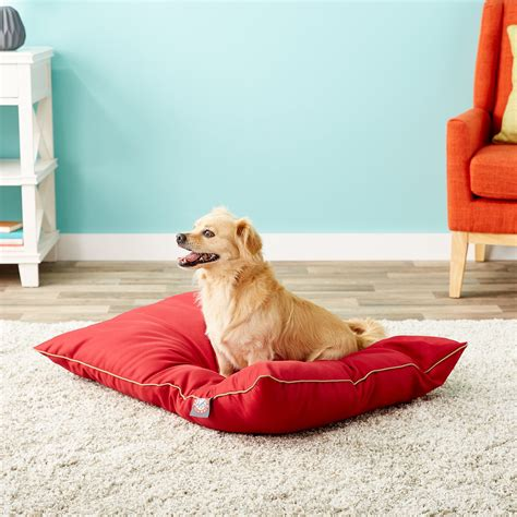 majestic dog bed majestic pet super value dog bed medium red chewy com