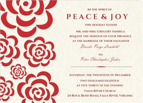 christmas wedding invitation wording vertabox com