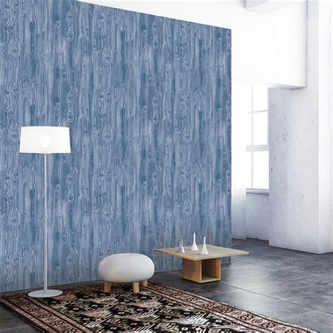 removable wallpaper for textured walls woodgrain textured industrial loft indigo removable wallpaper