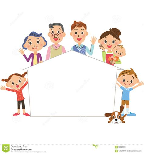 family pic frames family picture frame clipart clipartxtras