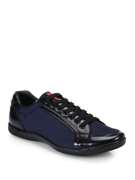 prada sneakers prada sneakers in blue for lyst