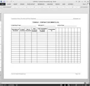 logging contract template contract documents log template