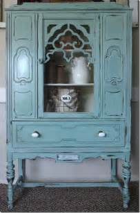 Shabby Chic China Hutch Duck Egg Archives Power Of Paint