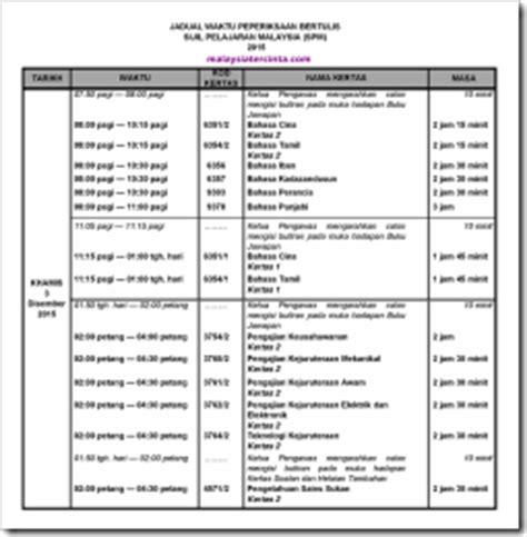 2015 exam calendar examination dates kalendar tarikh peperiksaan jadual waktu peperiksaan spm 2015
