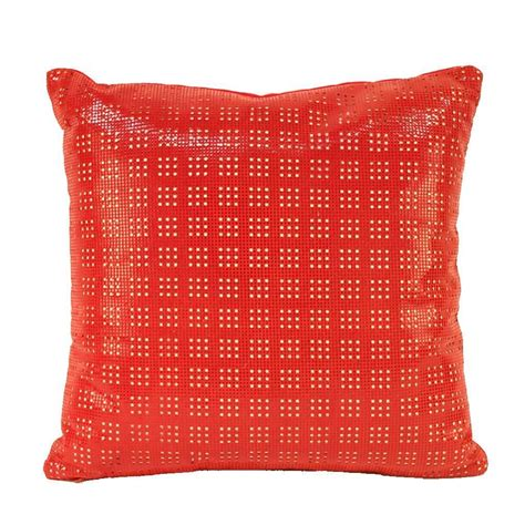 Leather Pillows For Sale by Small Perforated Leather Pillow For Sale At 1stdibs