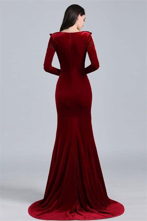 Khloé Kardashian Burgundy Velvet Evening Dress Elton John