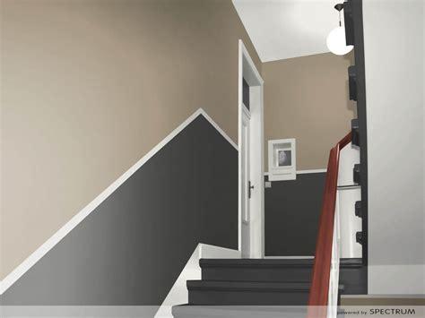 treppenhaus gestalten schöner wohnen wohnwand emozione grau wei 223