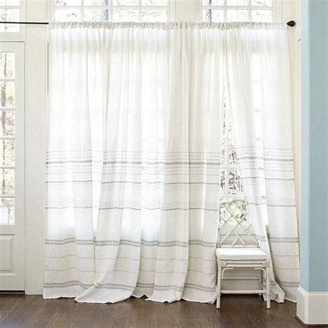 striped linen curtains madeline gray striped white linen panel