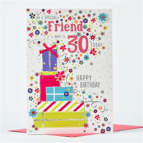 Special Friend 30th Birthday Card 30th Birthday Card Special Friend Only 163 1 29