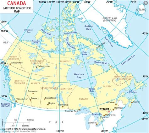 canadian map with latitude and longitude canada latitude and longitude map to