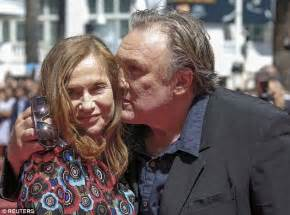 gerard depardieu s son death gerard depardieu kisses isabelle huppert at cannes valley
