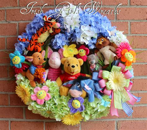 Custom Winnie The Pooh s wreaths where the difference is in the