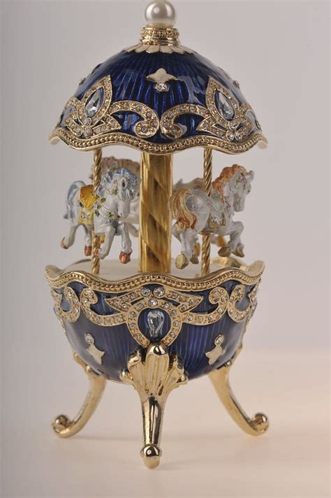 faberge egg with horse carousel via etsy carousels