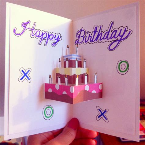 How To Make Handmade Pop Up Birthday Cards - pop up birthday card for the starry nights crafts