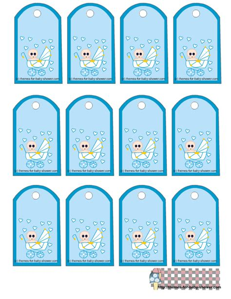 Free Printable Baby Shower Gift Tags by Free Printable Blue Baby Shower Favor Tags