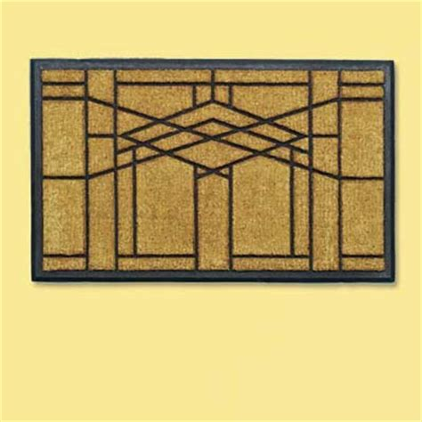 Frank Lloyd Wright Doormat by Prairie Style Distinctive Doormats This House