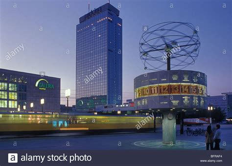 park inn berlin alexanderplatz with world time clock and park inn hotel at