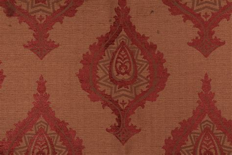 cabin upholstery fabric 1 5 yards robert allen cabin coverlet chenille damask