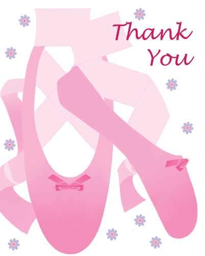 thank you letter to ballet ballerina thank you notes