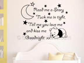 Inspirational Wall Sticker Quotes read me a story nursery wall sticker quote with sleeping