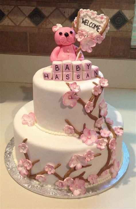 Cherry Blossom Baby Shower by Cherry Blossom Baby Shower Cake Baby Shower Wishful