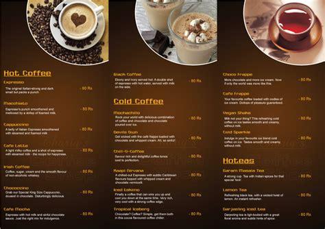 design a coffee shop menu create the lifestyle you desire october 2012