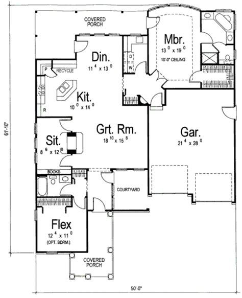455 square feet traditional style house plan 2 beds 2 baths 1685 sq ft