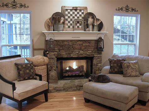 rustic fireplace mantels images ideas for decorating the