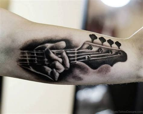 small guitar tattoo 55 guitar tattoos