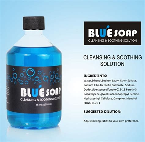 what soap to use on tattoo blue soap 40ml warehouse ltd