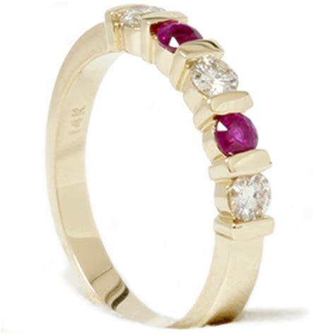 Ruby 4 2ct 1 2ct ruby wedding anniversary 14k gold ring ebay