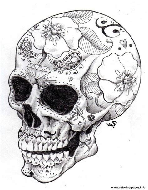 coloring pages for adults skulls 25 best ideas about sugar skull drawings on