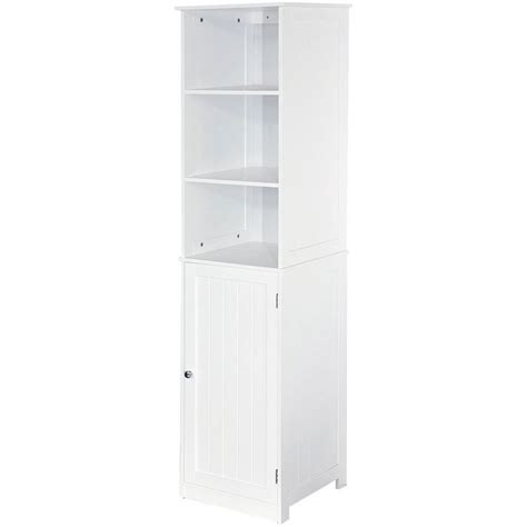White Freestanding Bathroom Storage Freestanding Bathroom Cabinet White Vanity Storage Mirror Wooden Storage Ebay