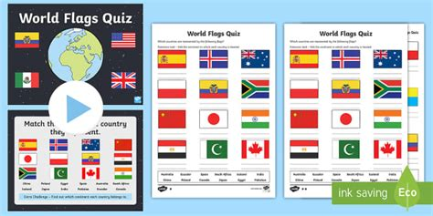 flags of the world quiz ks2 world flags quiz pack geography flags world earth