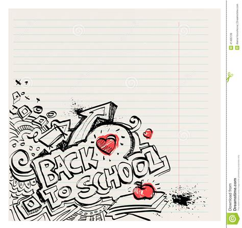 free doodle pen back to school naive primitive doodles with ink