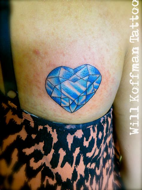crystal heart tattoo www pixshark images galleries